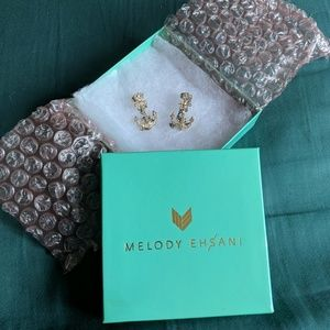 Never worn Melody Ehsani Anchor Earrings